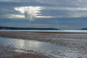 Unusual 'skyfall' from Rhossili Beach