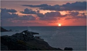 Sunrise over Peninnis Headland Isles of Scilly